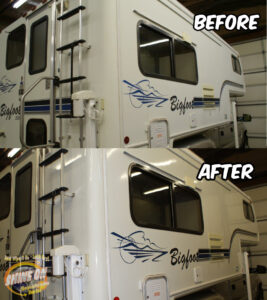 Bigfoot Camper Before and After SHINE ON