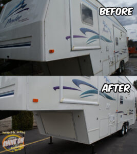 Prowler Camper Before and After SHINE ON Application
