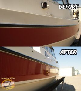 Red Boat Before and After SHINE ON Application