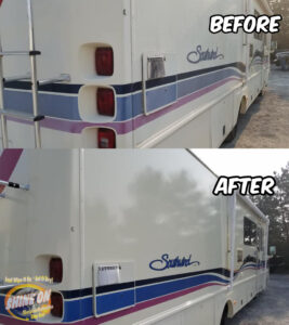 Southwind Motorhome Before and After SHINE ON Application