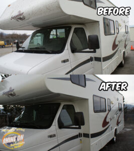 Camper Before and After SHINE ON Application