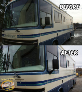 Voyager RV Before and After SHINE ON Application