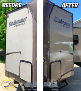 Windjammer Camper Before and After SHINE ON Application