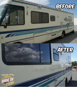 Winnebago RV Before and After SHINE ON Application